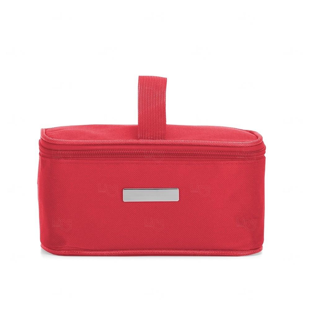 Necessaire Térmica Em Nylon Personalizada - 2,6 Litros Vermelho