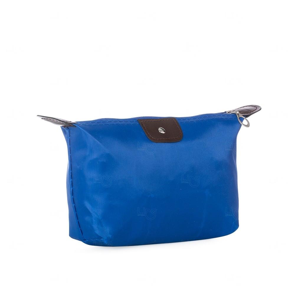 Necessaire Nylon Personalizada Azul