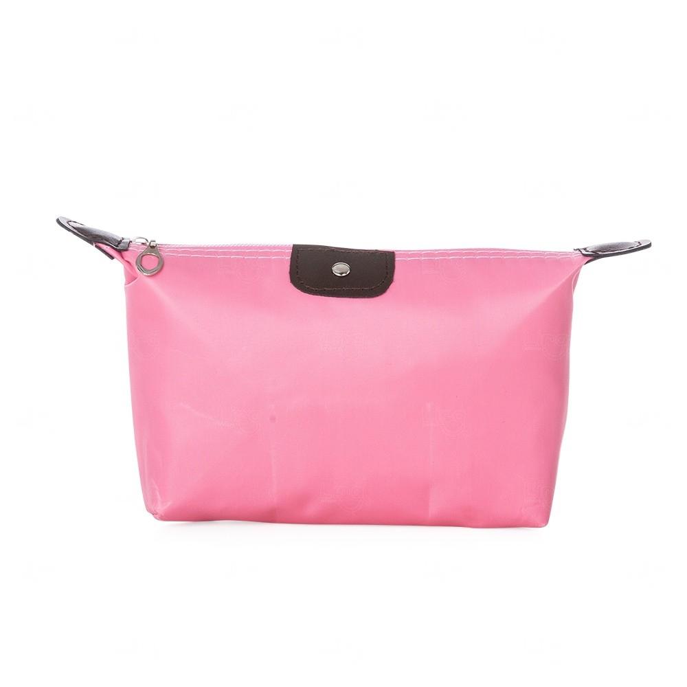 Necessaire Nylon Personalizada Rosa Claro