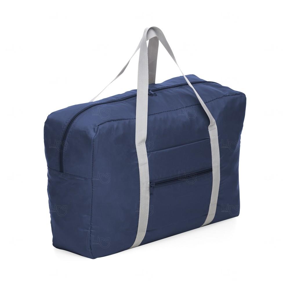 Bolsa Para Viagem Dobrável Personalizada Azul