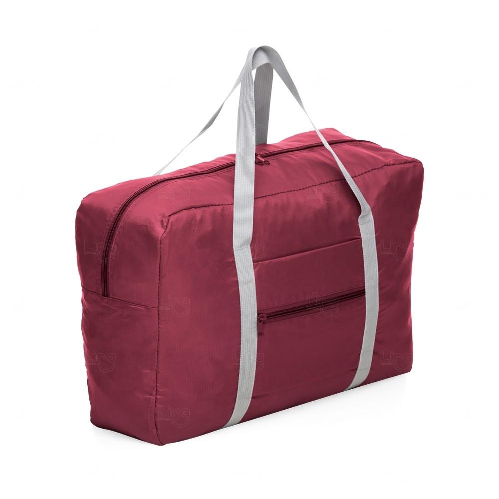 Bolsa Para Viagem Dobrável Personalizada Vermelho