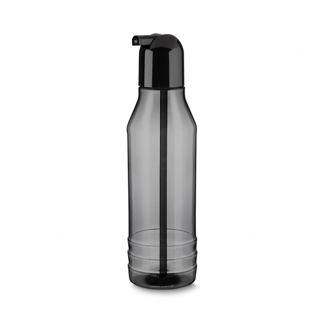 Garrafa Squeeze Plástico Personalizada - 600 ml Preto