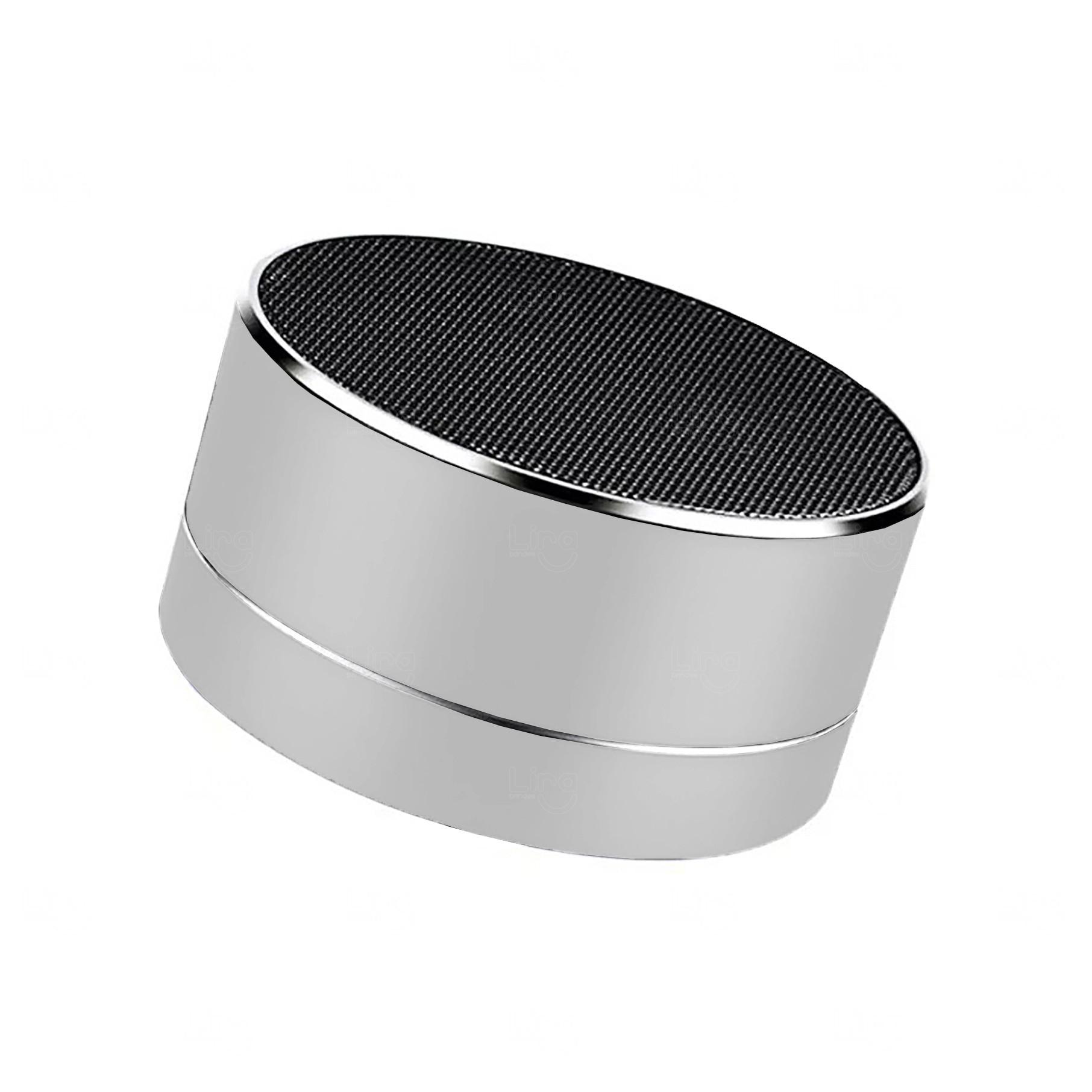 Caixa De Som Bluetooth Speaker Prata