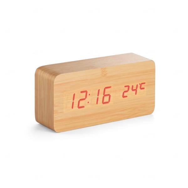 Relógio Digital Personalizado Woody Natural