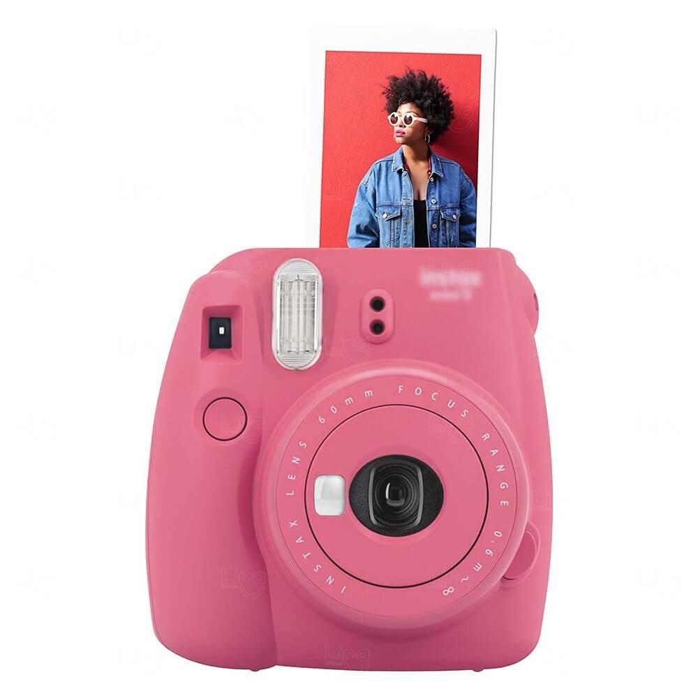 Câmera Fotográfica Instantânea Personalizada Rosa Flamingo