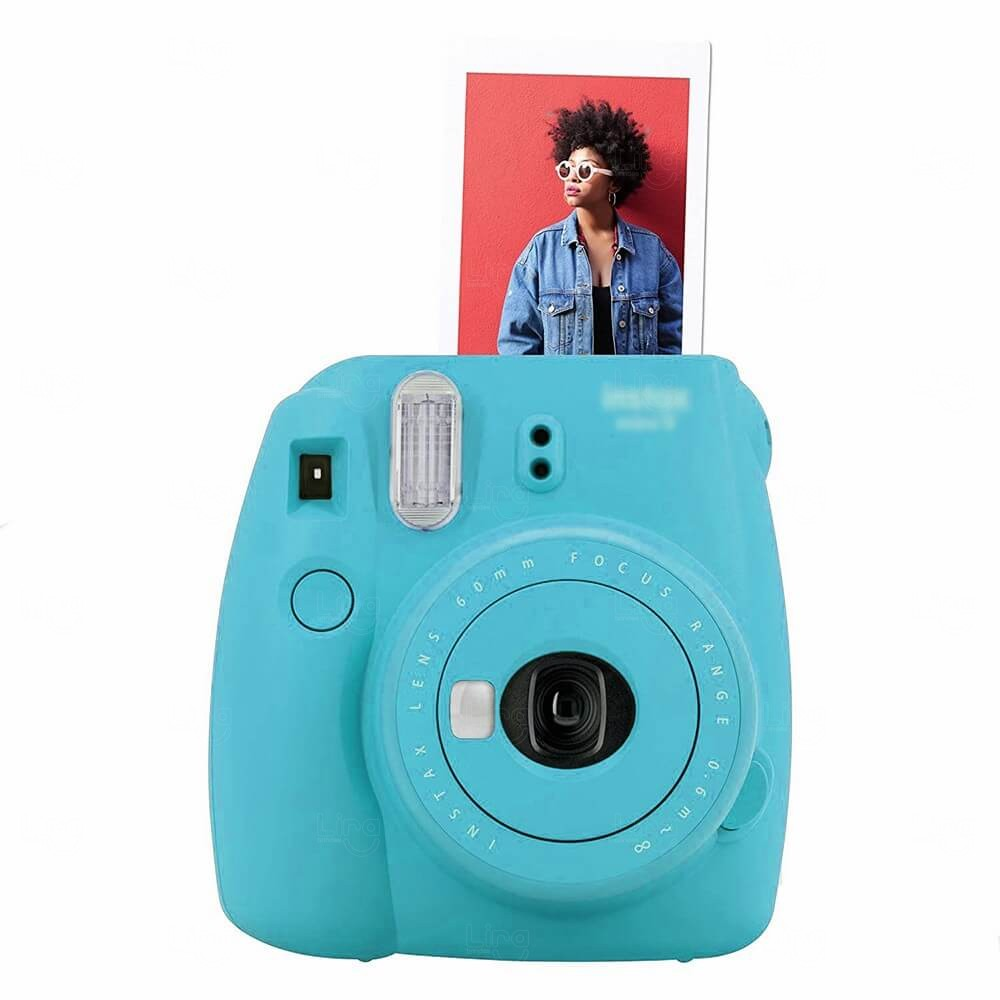 Câmera Fotográfica Instantânea Personalizada Azul Claro