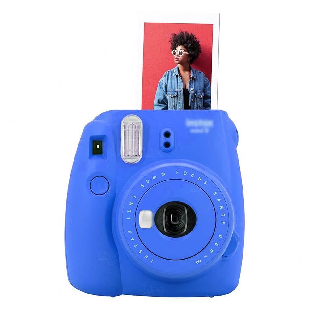 Câmera Fotográfica Instantânea Personalizada Azul
