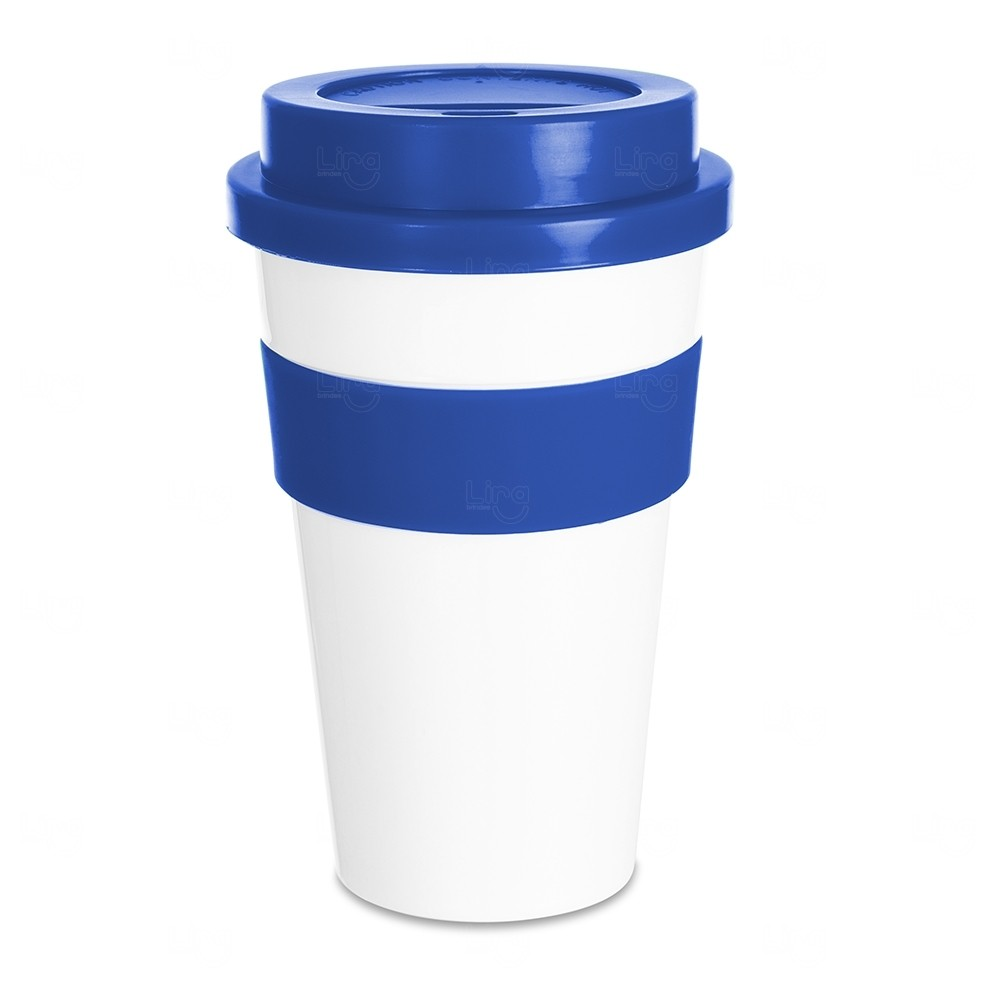 Copo Plástico com Tampa Personalizado - 480 ml