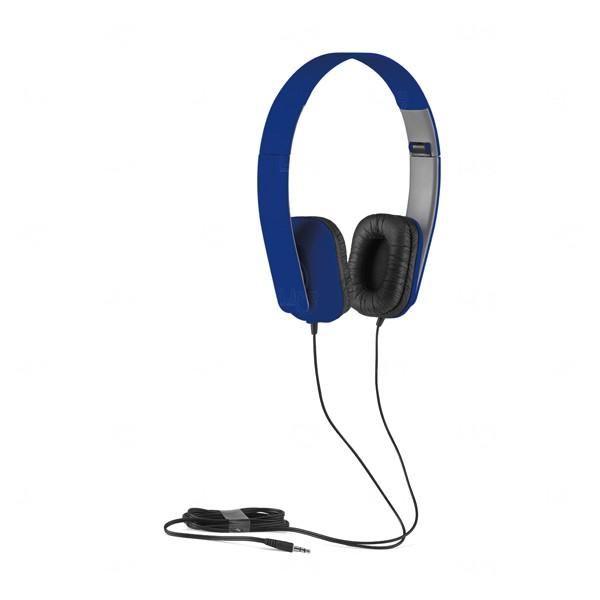 Fone de Ouvido Com Fio Personalizado Azul Marinho