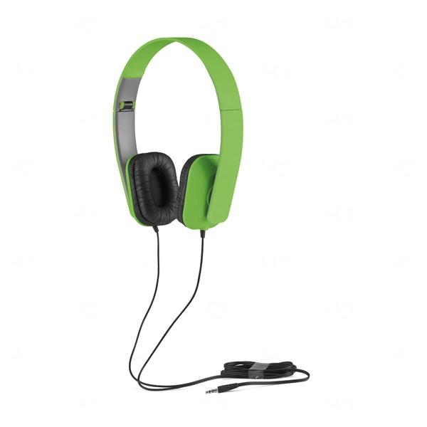 Fone de Ouvido Com Fio Personalizado Verde