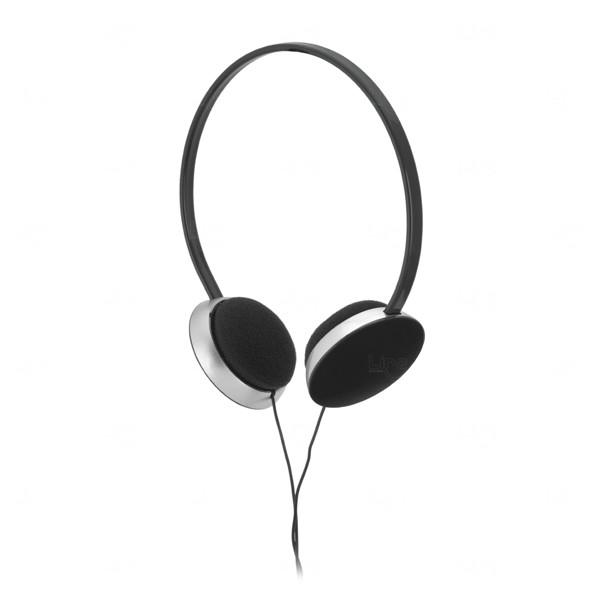 Fone de Ouvido Com Fio Personalizado Preto