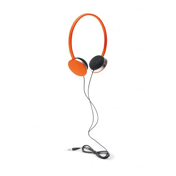 Fone de Ouvido Com Fio Personalizado Laranja