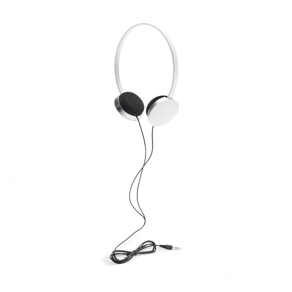 Fone de Ouvido Com Fio Personalizado Branco