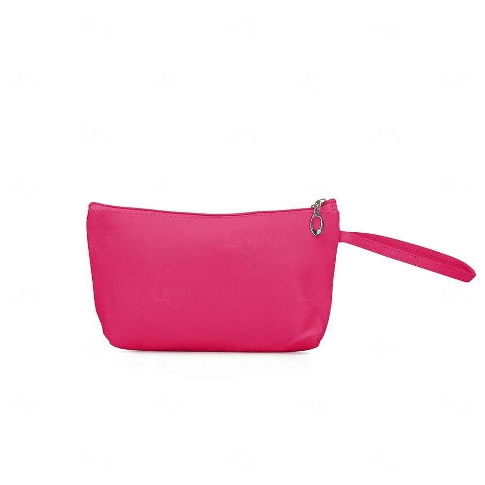 Necessaire Impermeável Personalizada PVC Rosa Pink