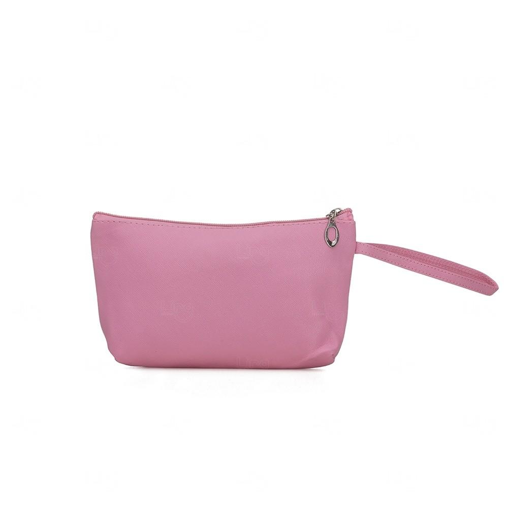 Necessaire Impermeável Personalizada PVC Rosa Flamingo