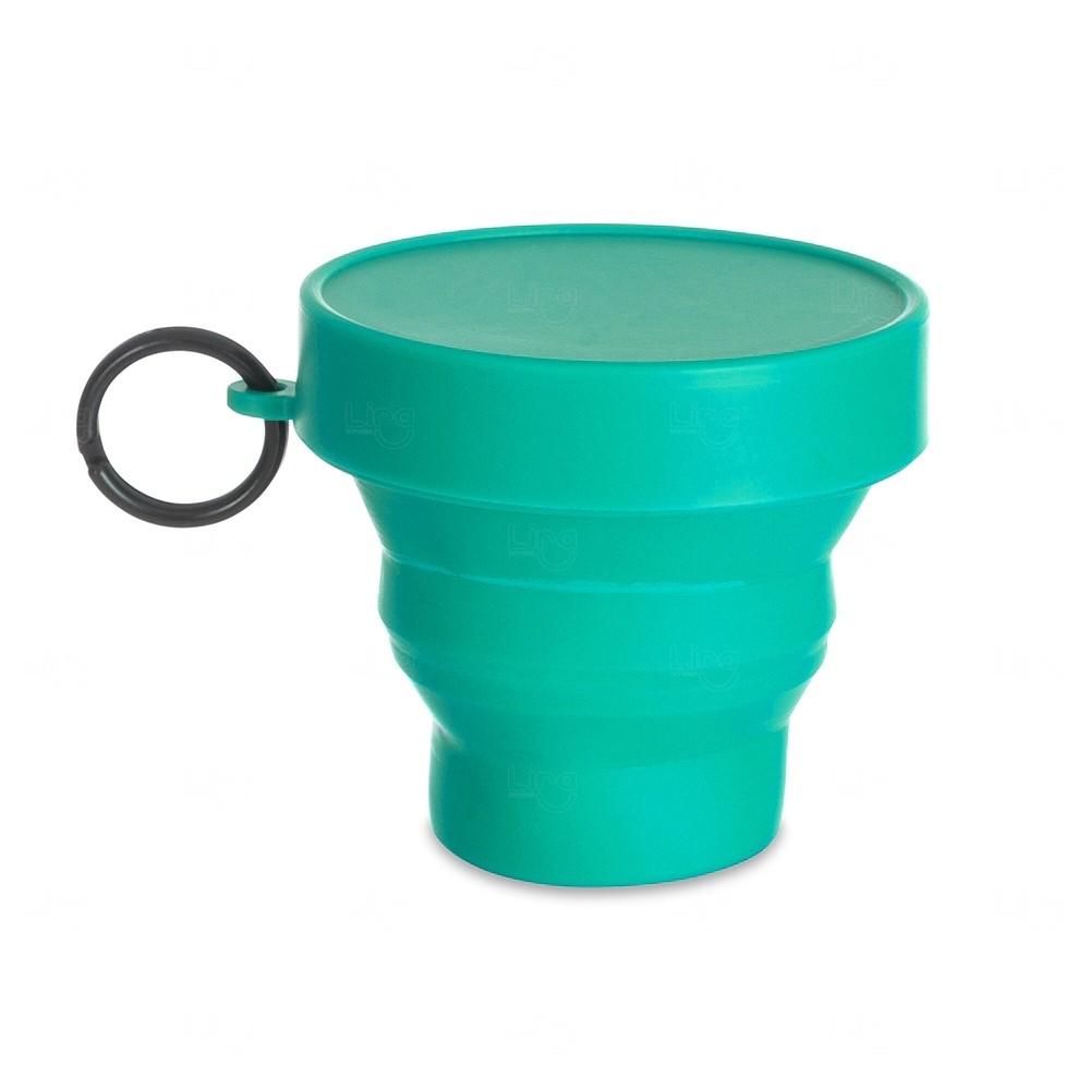 Copo Personalizado Dobrável - 150 ml Verde água