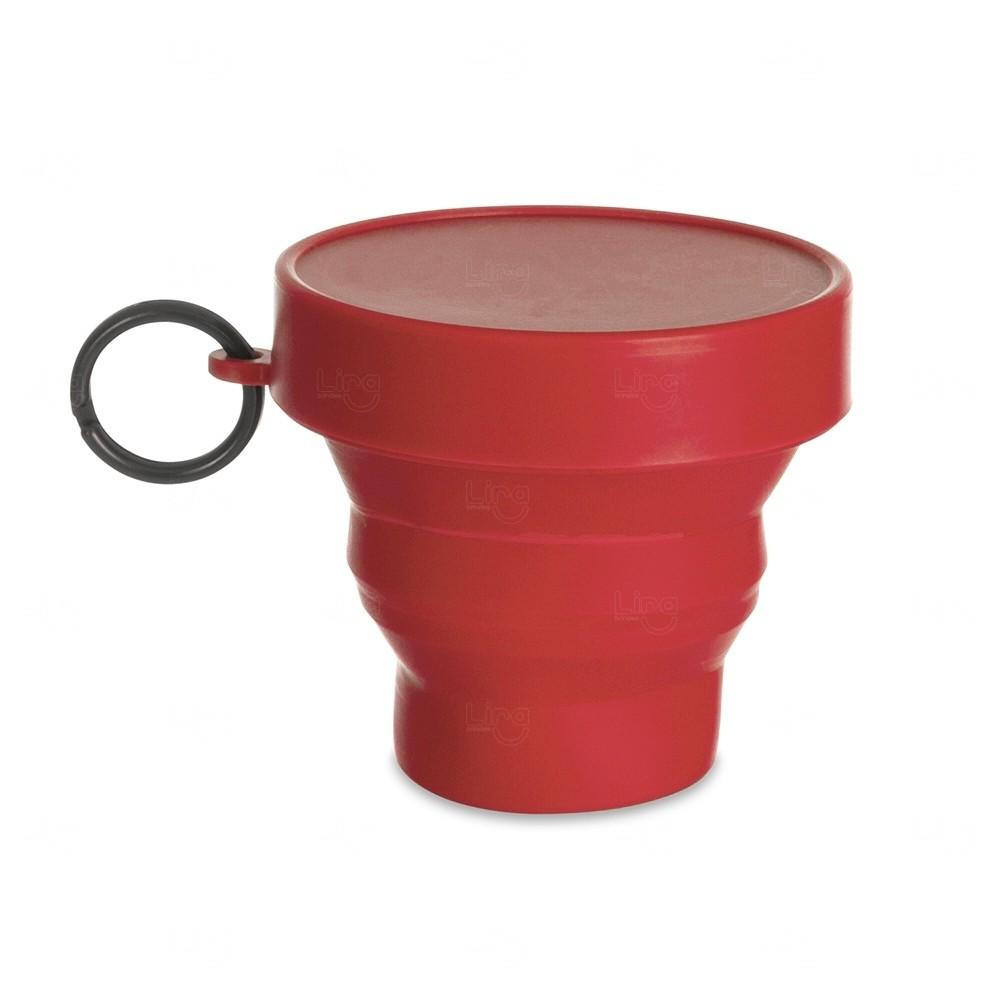 Copo Personalizado Dobrável - 150 ml Vermelho