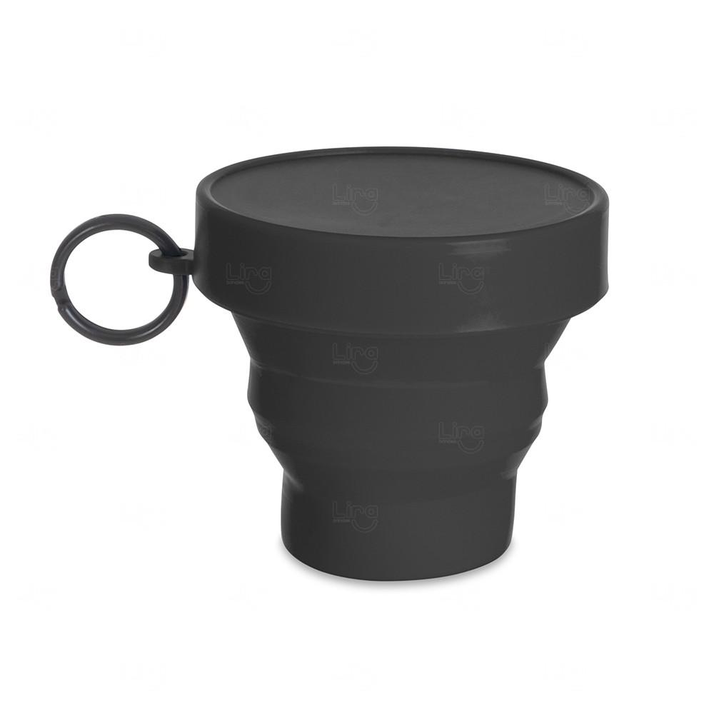 Copo Personalizado Dobrável - 150 ml Preto