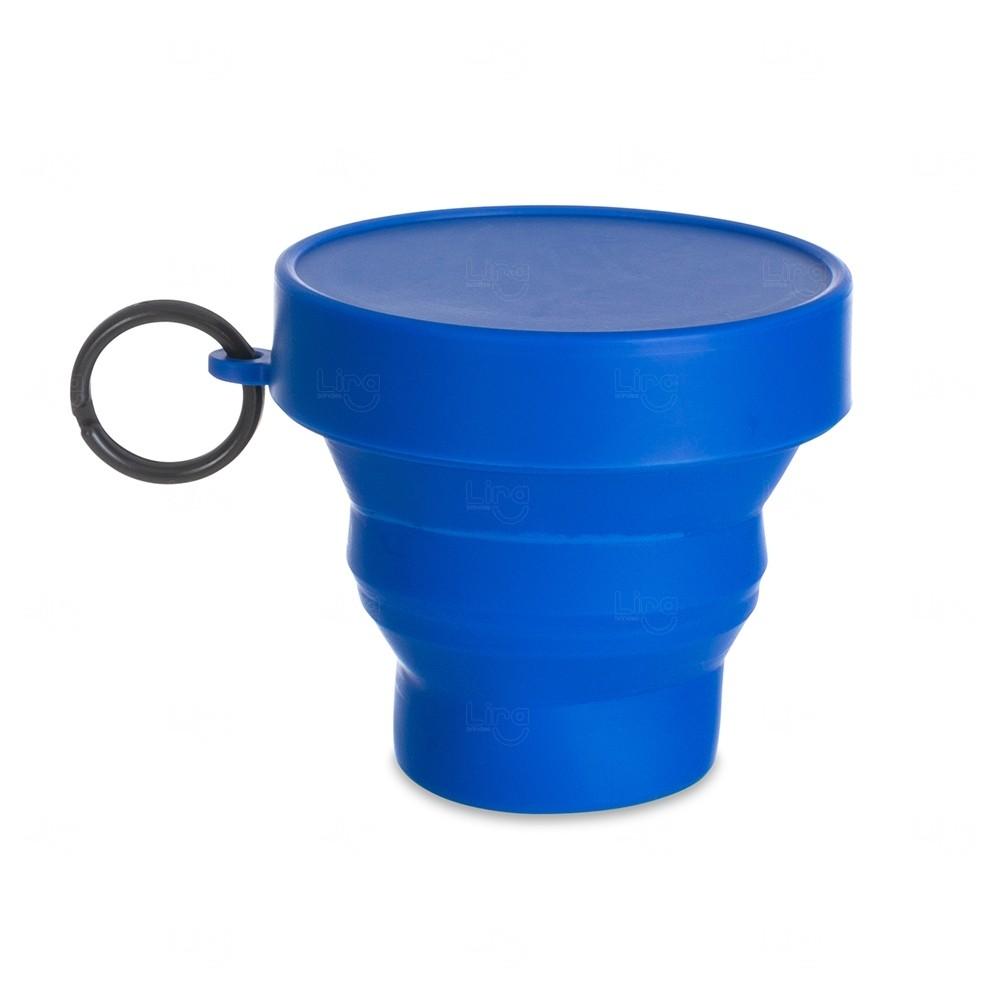 Copo Personalizado Dobrável - 150 ml Azul