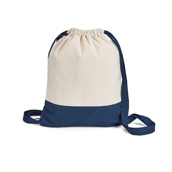 Sacochila Personalizada de Algodão Azul Marinho