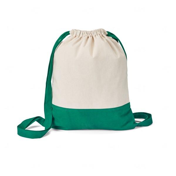 Sacochila Personalizada de Algodão Verde