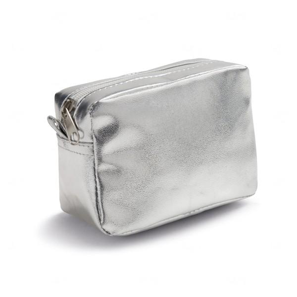 Necessaire Metalizada Personalizada Prata