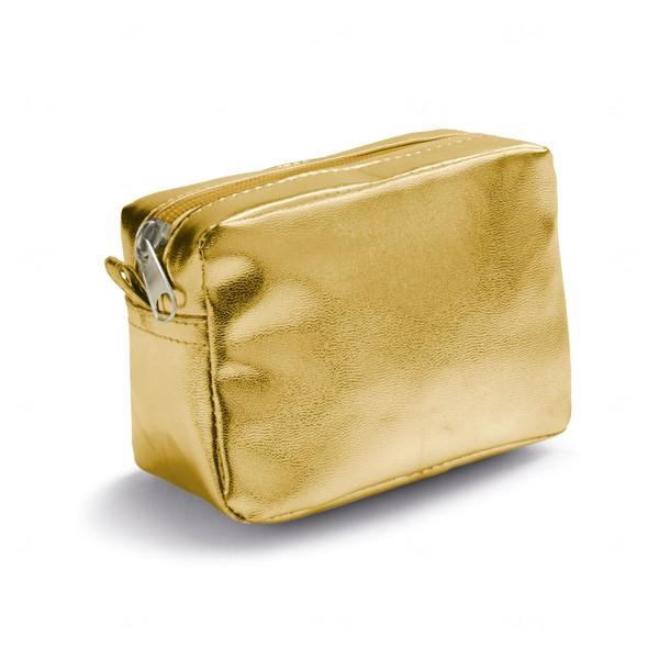Necessaire Metalizada Personalizada Dourado