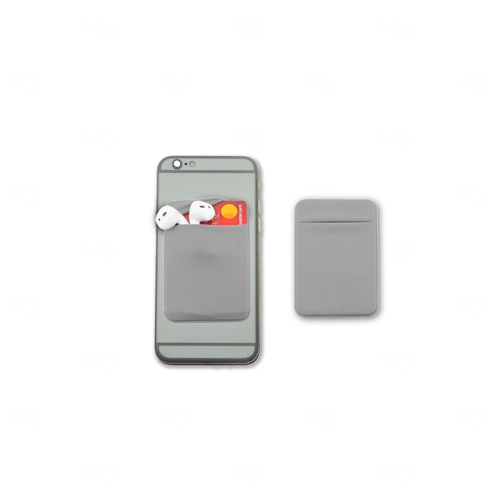 Porta Cartão Personalizado de Lycra Cinza