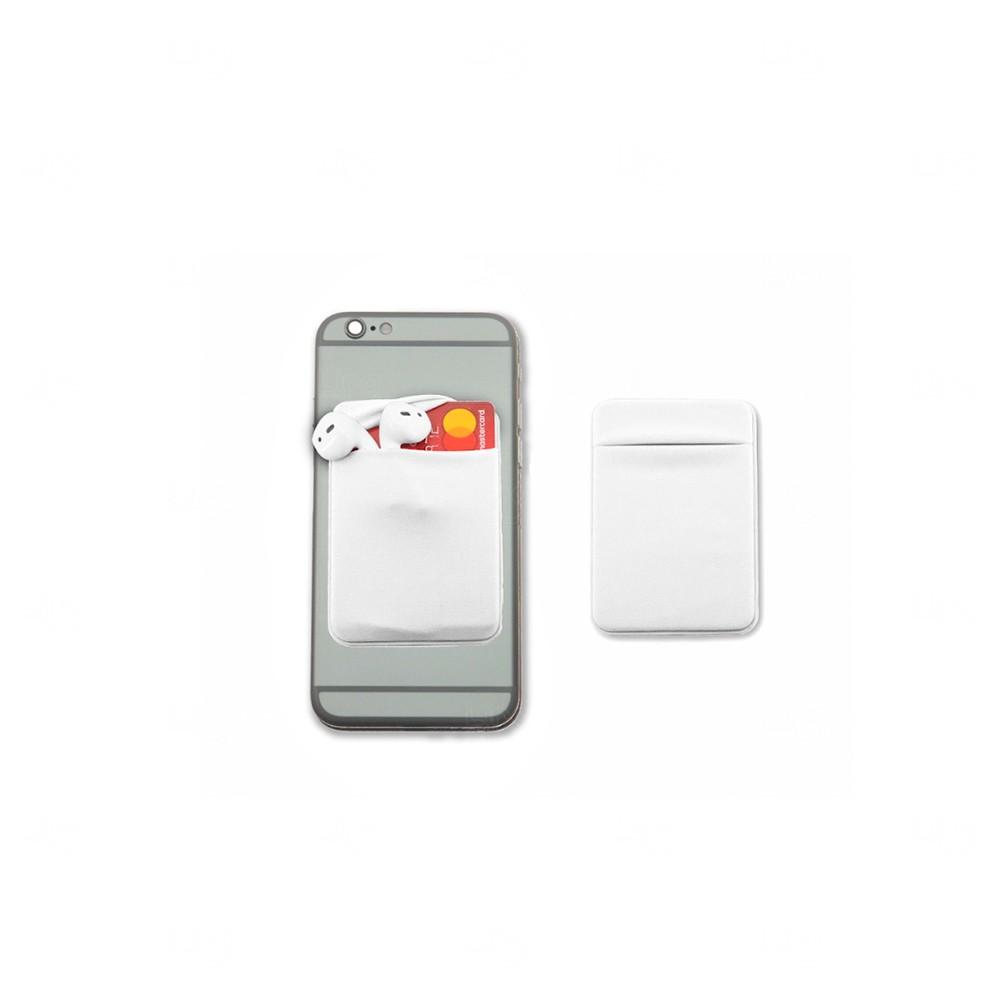 Porta Cartão Personalizado de Lycra Branco