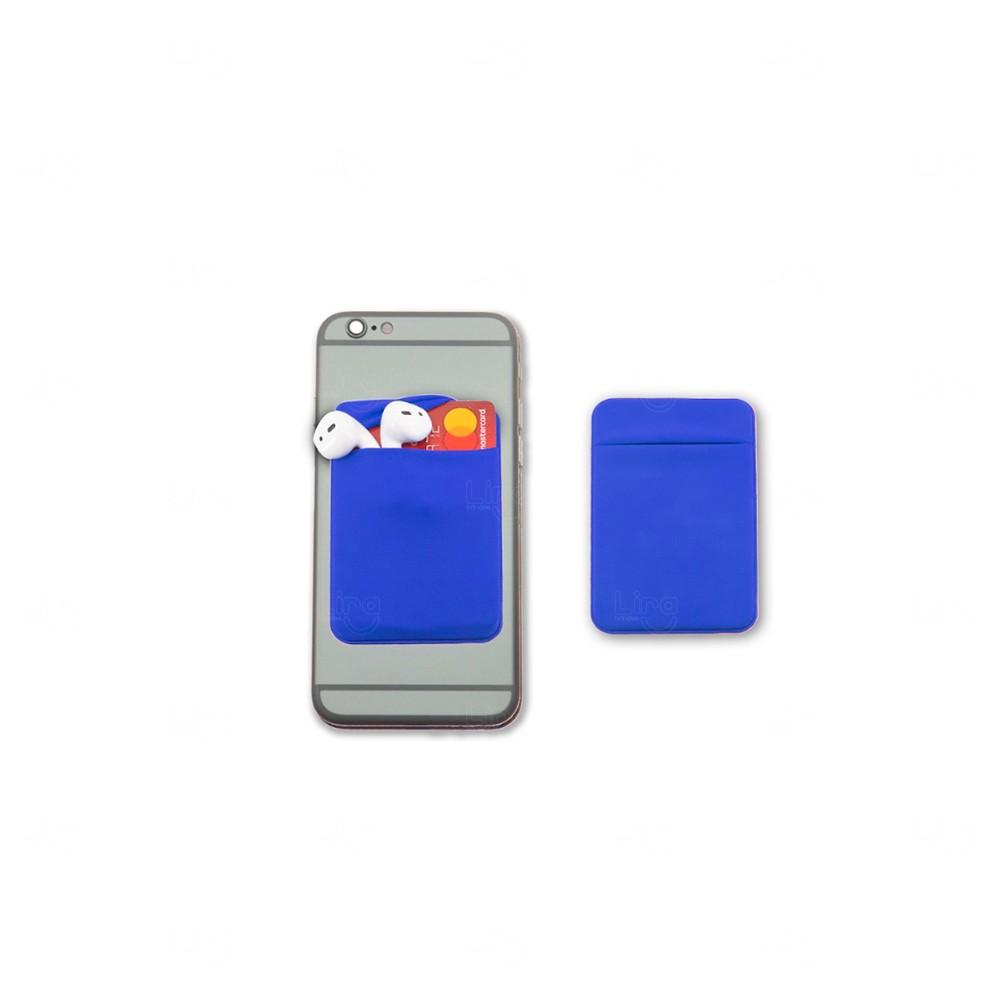 Porta Cartão de Lycra Personalizado Azul