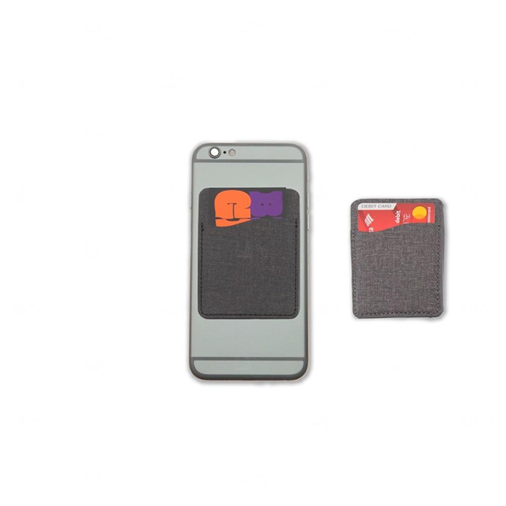 Porta Cartão Personalizado de Poliéster Cinza