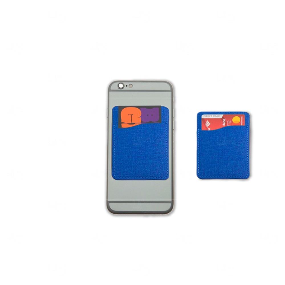 Porta Cartão Personalizado de Poliéster Azul