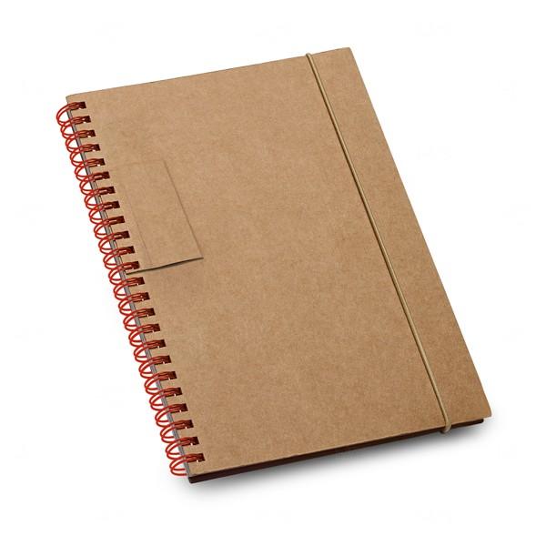 Caderno Personalizado Ecológico Vermelho