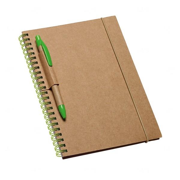Caderno Personalizado Ecológico Verde Claro