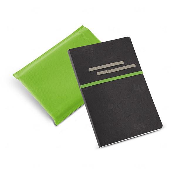 Caderno Couro Sintético Personalizado Verde