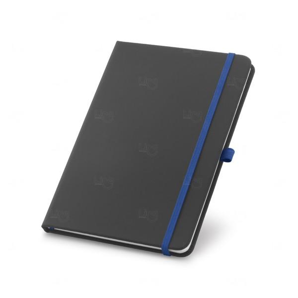 Caderno Detalhe Colorido Personalizado Azul Marinho