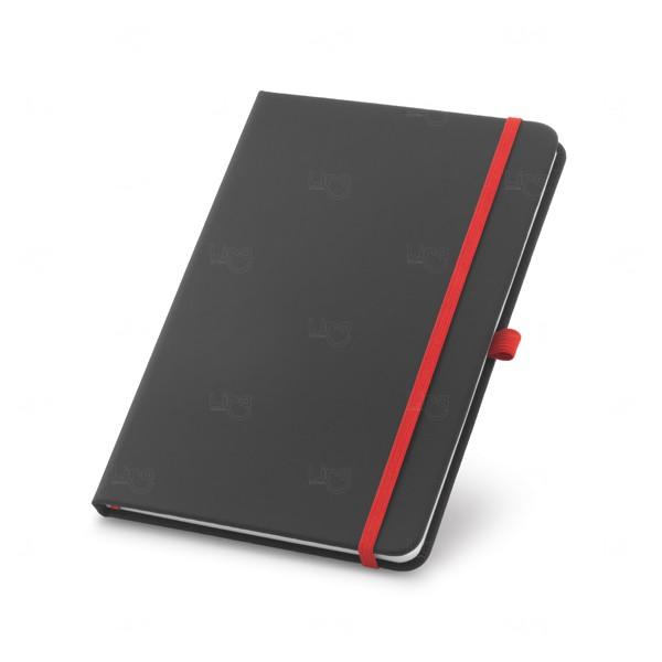Caderno Detalhe Colorido Personalizado Vermelho