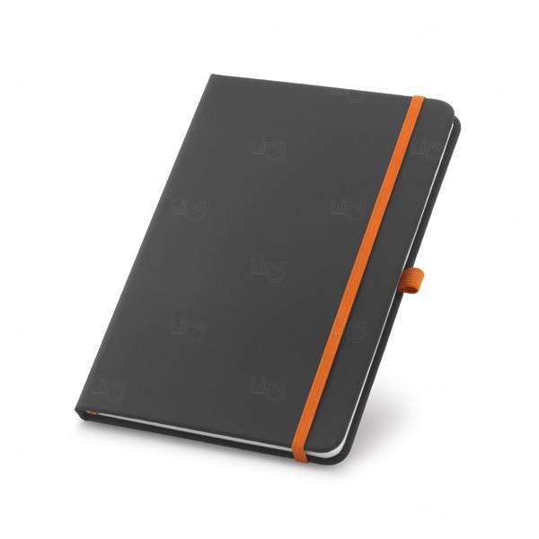 Caderno Detalhe Colorido Personalizado Laranja