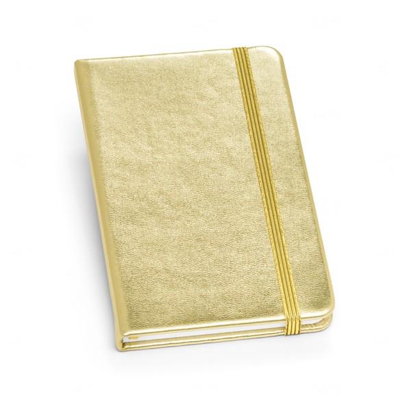Caderneta Personalizada Metalizada Dourado