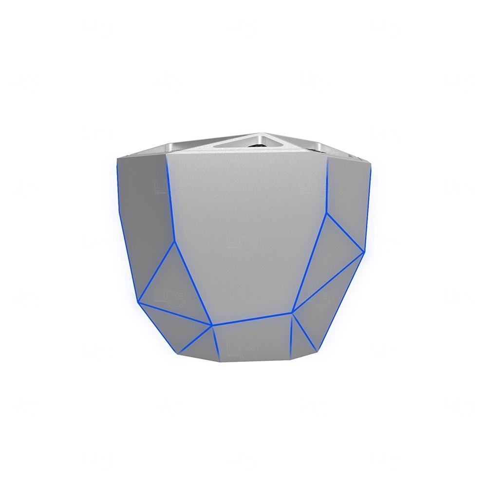 Caixa de Som Flash Stony Bluetooth Personalizada Cinza Claro