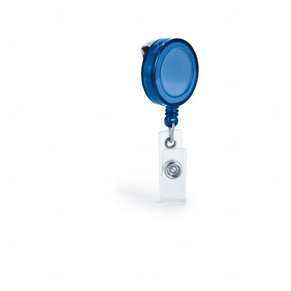 Porta Crachá Personalizado Azul