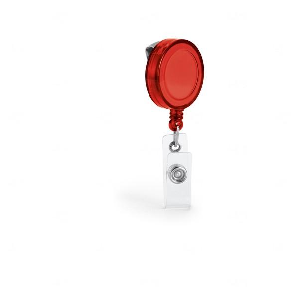 Porta Crachá Personalizado Vermelho