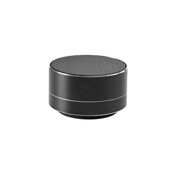 Caixa de Som com Microfone Personalizado Preto