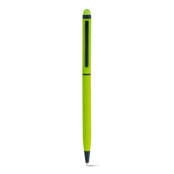 Caneta Touch Personalizada Alumínio Verde Claro