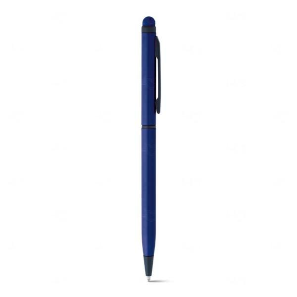 Caneta Touch Personalizada Alumínio Azul Marinho