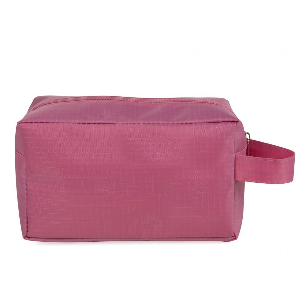 Necessaire De Pvc C/ Forro Polyester Personalizado Rosa Flamingo