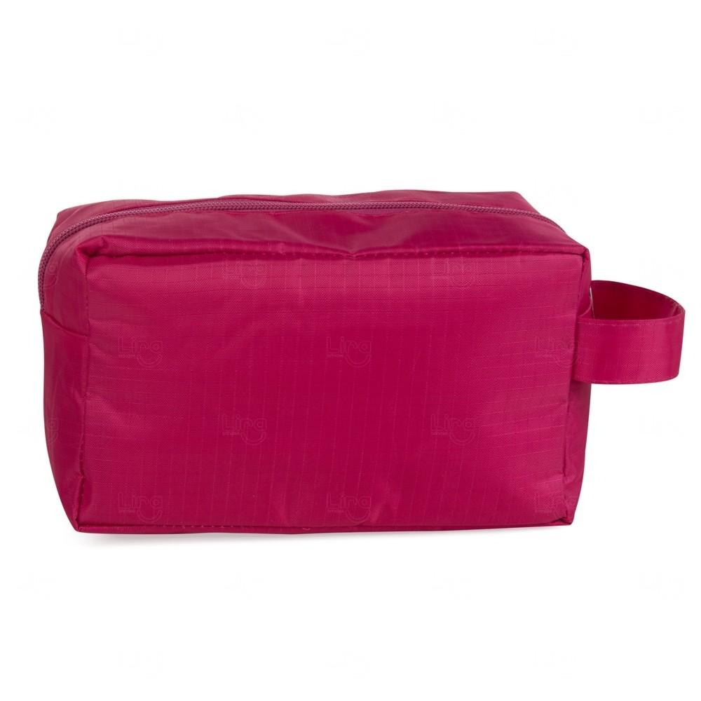 Necessaire De Pvc C/ Forro Polyester Personalizado Rosa Pink