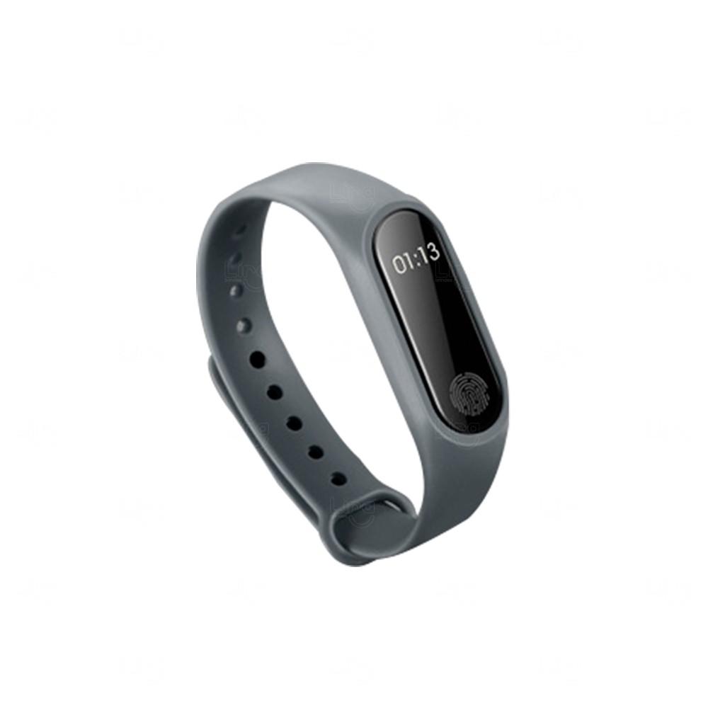 Relógio Smartband Black Pearl 2 Personalizada Cinza