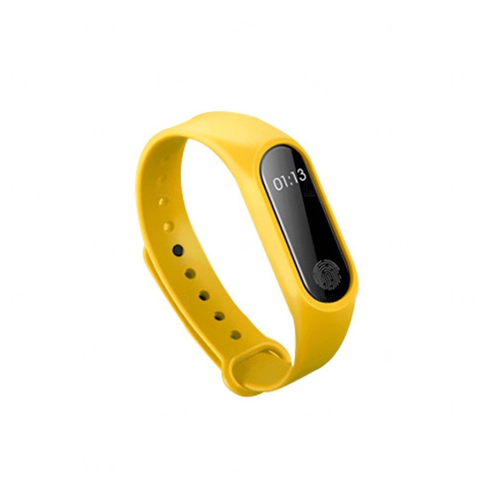 Relógio Smartband Black Pearl 2 Personalizada Amarelo