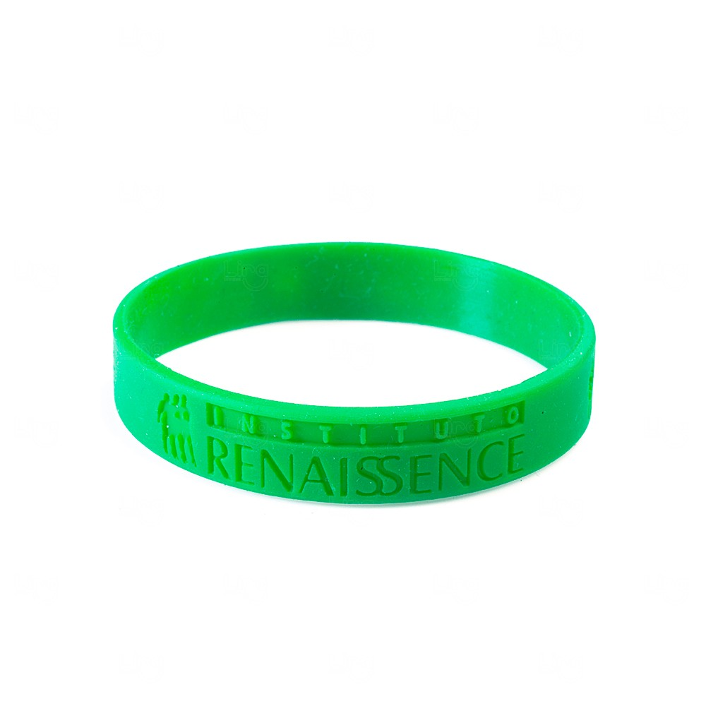 Pulseira Silicone Colorblock Personalizada Verde